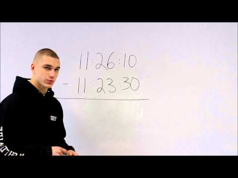 How to Subtract Time: S and P Wave Time Difference and Finding Epicenter