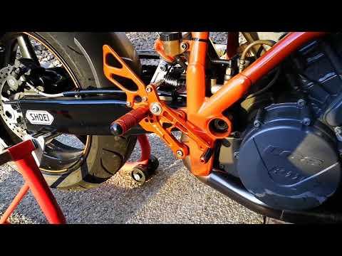 Quick Look Nobunaka Rearsets-KTM 990 Superduke R