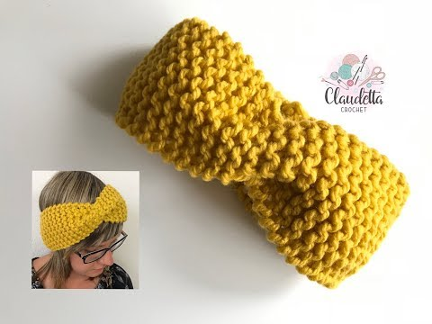 Einfaches Twist Stirnband Häkeln Anfänger Claudetta Crochet