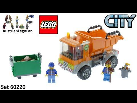 Vidéo LEGO City 60220 : Le camion de poubelle