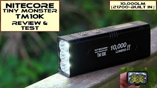 Nitecore Tiny Monster TM10K LED Torch: Review & Test