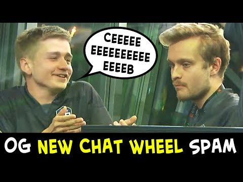OG SPAMMING NEW CHAT WHEEL of Battle Pass 2019 — 2000 LEVEL CEEEEEB