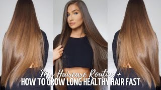 HOW TO GROW LONG HEALTHY HAIR FAST - MY HAIR ROUTINE + TIPS | ALICEOLIVIAC