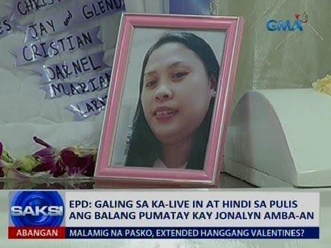 Saksi: EPD: Galing sa ka-live in at hindi sa pulis ang balang pumatay kay Jonalyn Amba-an