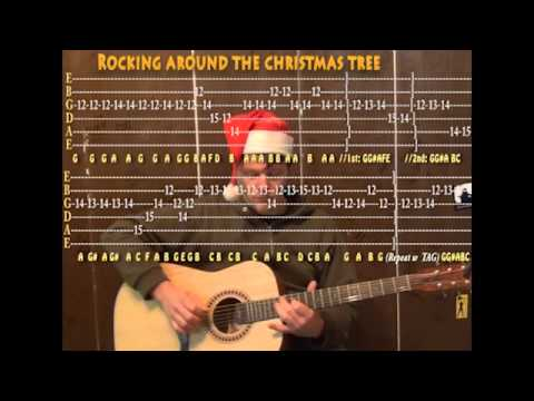 Rocking Around The Christmas Tree (Christmas) Lead Guitar Cover Lesson with TAB