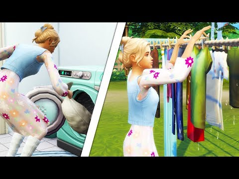 LAUNDRY DAY STUFF👗👕👖 // GAMEPLAY | The Sims 4