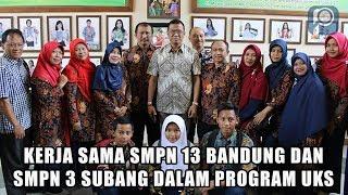 Studi Banding SMPN 3 Subang ke SMPN 13 Bandung Dalam Program UKS
