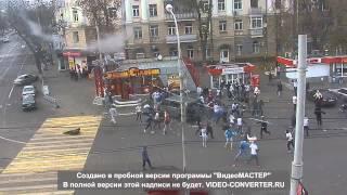 Массовая драка фанатов Воронежа против Тулы \ Fight of football fans