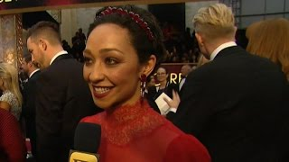 Ruth Negga on the ACLU ribbon she wore on the red carpet