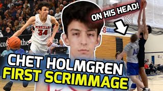 7' Chet Holmgren Was UNSTOPPABLE In First Scrimmage! WILD POSTER & Shows Off SHIFTY Guard Skills! 🤩