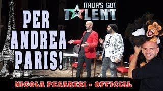 Il Nostro IN BOCCA AL LUPO Ad Andrea Paris, Il Mago In Finale Ad Italia's Got Talent.