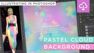 Create A Pastel Cloud Rainbow Background Or Digital Paper | Illustrating In Photoshop