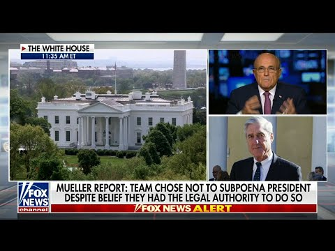 President Donald Trump's lawyer-spokesman, Rudy Giuliani says he got to see the Special Counsel Robert Mueller's report before its redacted release to the public. (April 18)