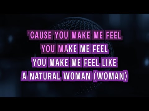 (You Make Me Feel Like) A Natural Woman Karaoke Version by Bonnie Tyler (Video with Lyrics)