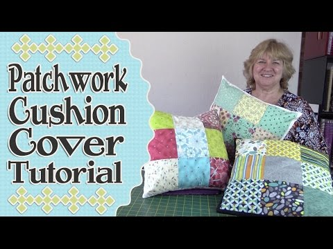 Patchwork Quilted Envelope Cushion Cover Tutorial