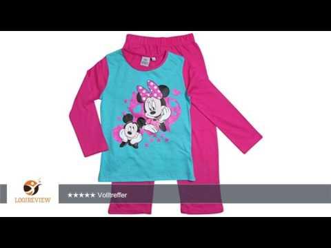 Minnie Mouse und Mickey Mouse Kollektion 2016 Pyjama 92 98 104 110 116 122 128 Mädchen Schlafanzug