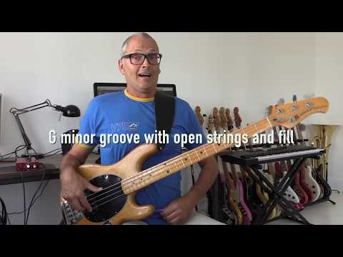 How to play a G minor bass groove
