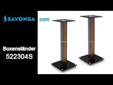 Savonga® 522304S  SCHWERLAST Lautsprecher Ständer, Boxenständer f. HIFI Lautsprecher Boxen Speaker
