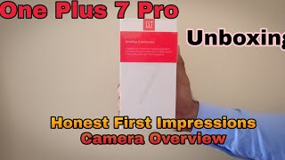 OnePlus 7 pro Unboxing | Honest First Impression | Camera overview