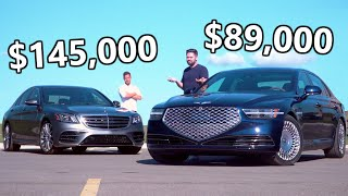 2020 NEW Genesis G90 vs Mercedes S-Class // When The Bargain Meets The Boss