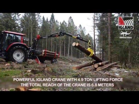 Igland 450 swingtrac tømmerhenger - film på YouTube
