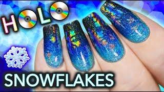 Hidden HOLO Snowflake Nail Art thumbnail