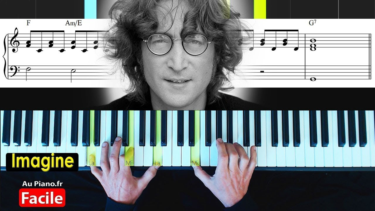 John Lennon – Imagine (Piano Facile tutorial) Aupiano.fr