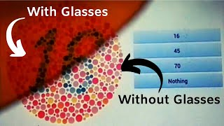 RED GREEN COLOR BLINDNESS GLASSES WITH ISHIHARA TEST