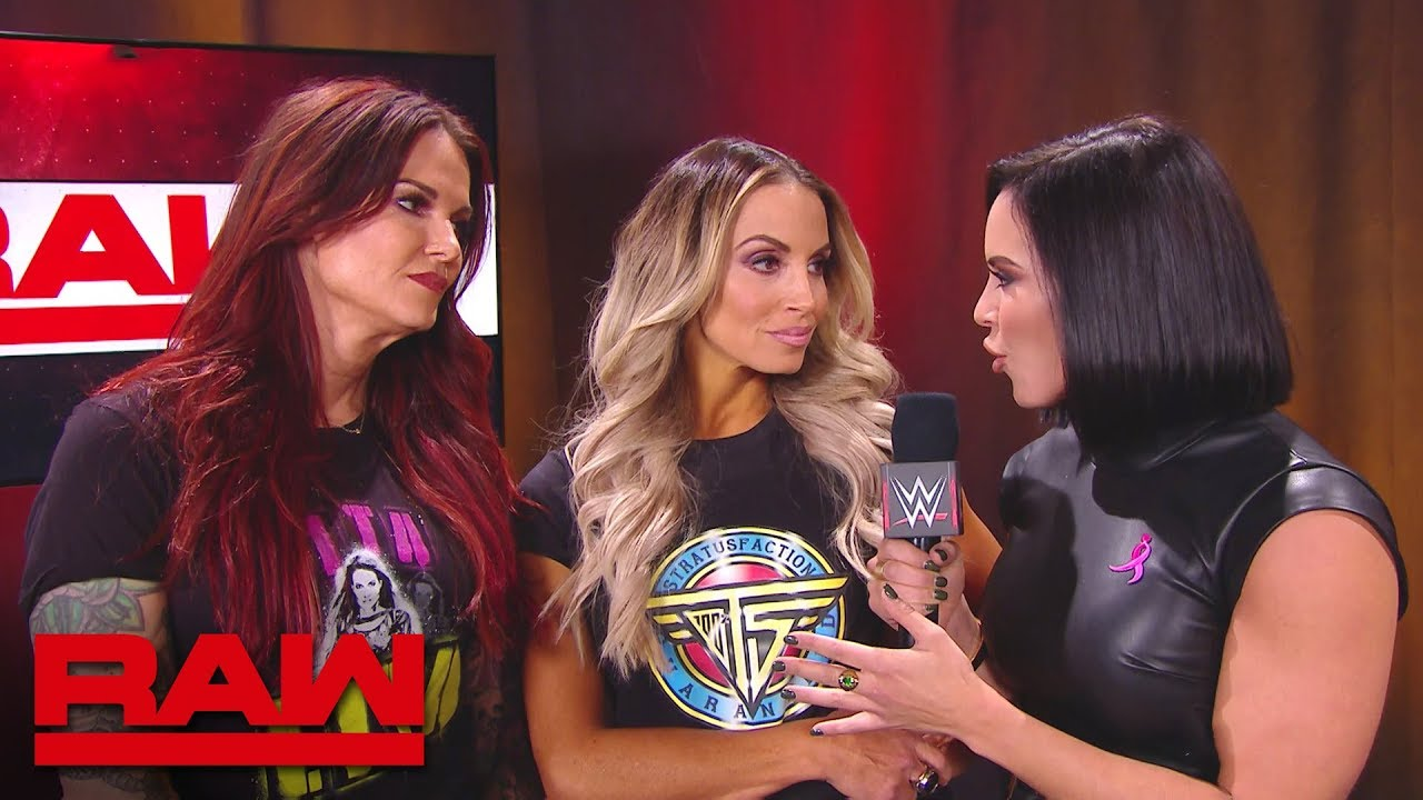 Mickie James & Alicia Fox brawl with Trish Stratus and Lita: Raw, Oct. 22, 2018