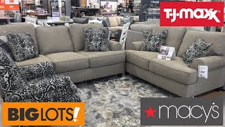 TJ MAXX BIG LOTS MACY'S FURNITURE CHAIRS TABLES HOME DECOR SHOP WITH ME SHOPPING STORE WALK THROUGH