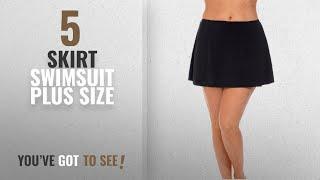 Top 10 Skirt Swimsuit Plus Size [2018]: Aquabelle Women's Plus Size Chlorine Resistant Skirt 22