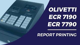 Olivetti ECR7190 7790 report printing
