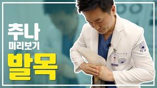 환자와 보호자를 위한 추나요법 미리보기! 발목 편