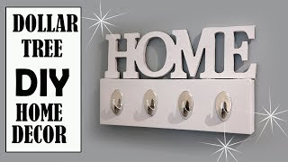 DOLLAR TREE DIY - HOME DECOR KEY HOLDER