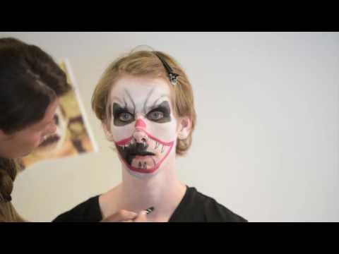 Tutorial de maquilhagem palhaço diabólico Halloween