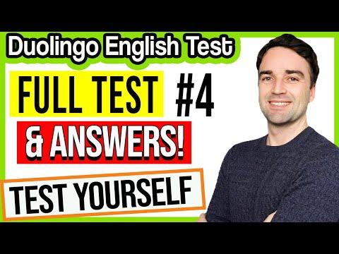FULL Duolingo English Test & ANSWERS #4 - Duolingo ... - YouTube