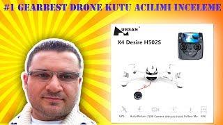 HUBSAN X4 502S FPV GPS DRONE KUTU ACILIMI INCELEME GEARBEST
