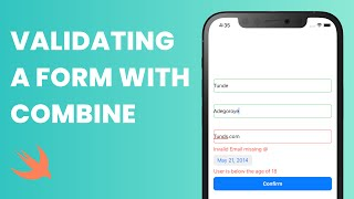 Form Validation in UIKit using Combine Framework (Combine Framework, UIKit Tutorial, UIKit Form)