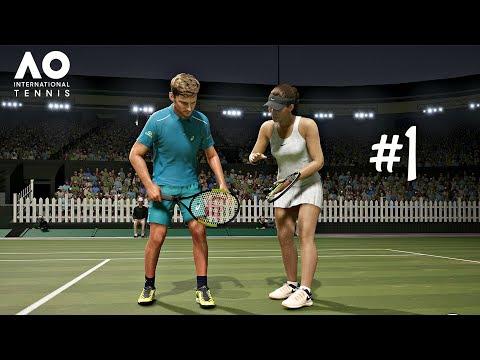 Gameplay de AO International Tennis