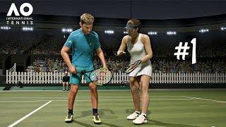 AO International Tennis Career Mode Episode 1 - FIRST MATCH | PS4 Pro Gameplay