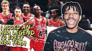i added one nba legend to every nba team to see who would be the best...