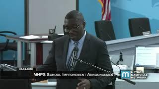 09/24/18 MNPS School Improvement Announcement