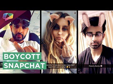 Enraged TV actors take a DIG at Snapchat! | India Forums