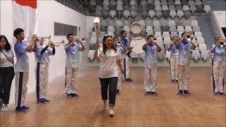 Aksi Marcing Band Ramaikan Konferensi Pers Film Susi Susanti Love All