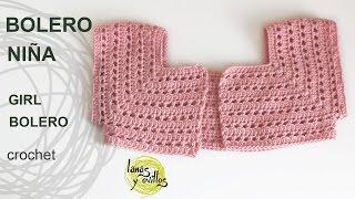 Tutorial Bolero Fácil Niña Crochet O Ganchillo