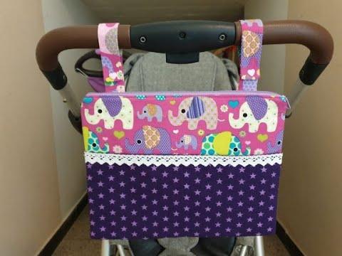 Kinderwagentasche Nähen ohne Schnittmuster kinderwagen-organizer