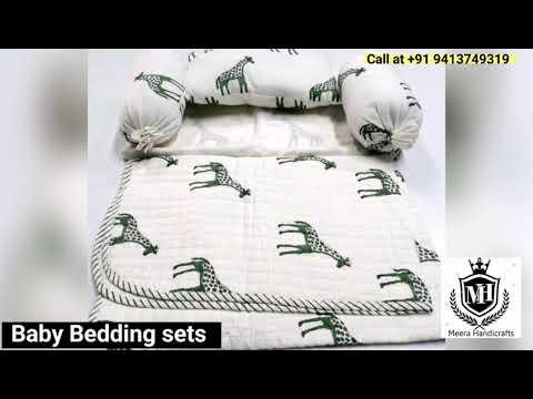Handmade Kantha Baby Quilt For Winter Season