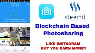 SteepShot the Steemit Based Instagram Like Blockchain Photosharing Site | 1st Youtube Vid On It