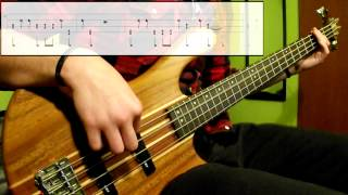 Gorillaz   Feel Good Inc. (Bass Cover) (Play Along Tabs In Video)
