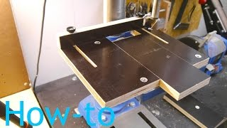 Anschlagtisch für die Standbohrmaschine Güde GTB 16 Anleitung